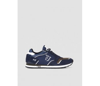 Pánske sneakersy TRUSSARDI 77A00188 BLUE NAVY/MILITARY