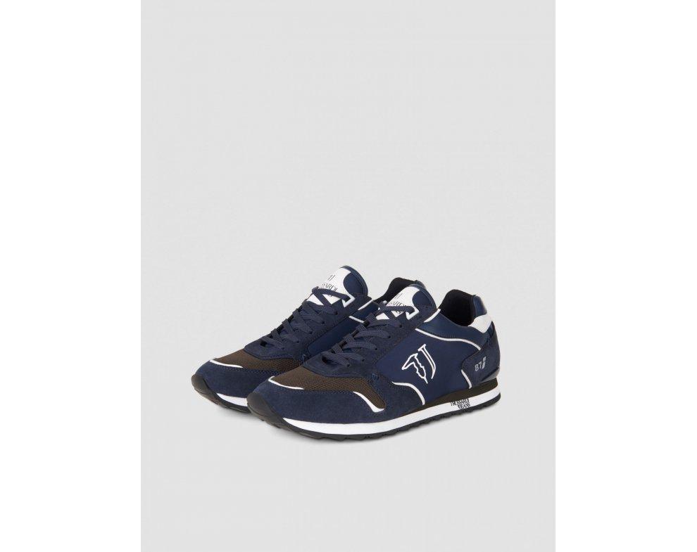 Pánske sneakersy TRUSSARDI 77A00188 BLUE NAVY/MILITARY