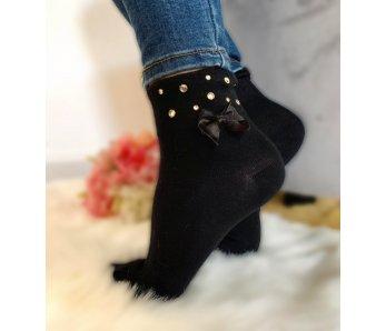 Ponožky s mašľou V-362