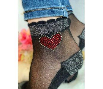 Ponožky so srdcom  K-641