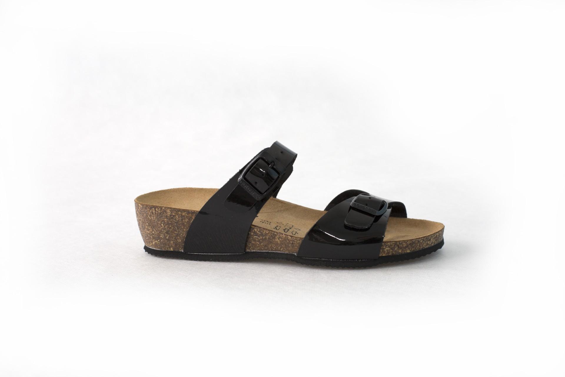 1ab25025912a0 Korkové šľapky GS1289T nero | SecretShoes.sk