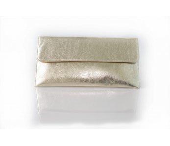 Dámska listová kabelka platino